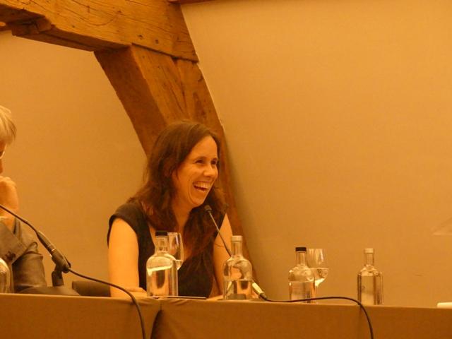 Sara Vicca in het panelgesprek