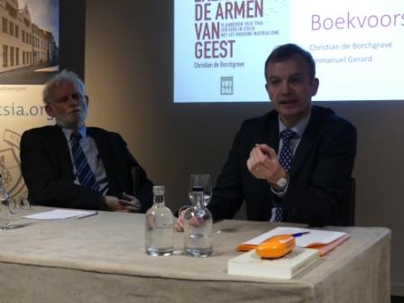 Emmanuel Gerard en Christian de Borchgrave in gesprek