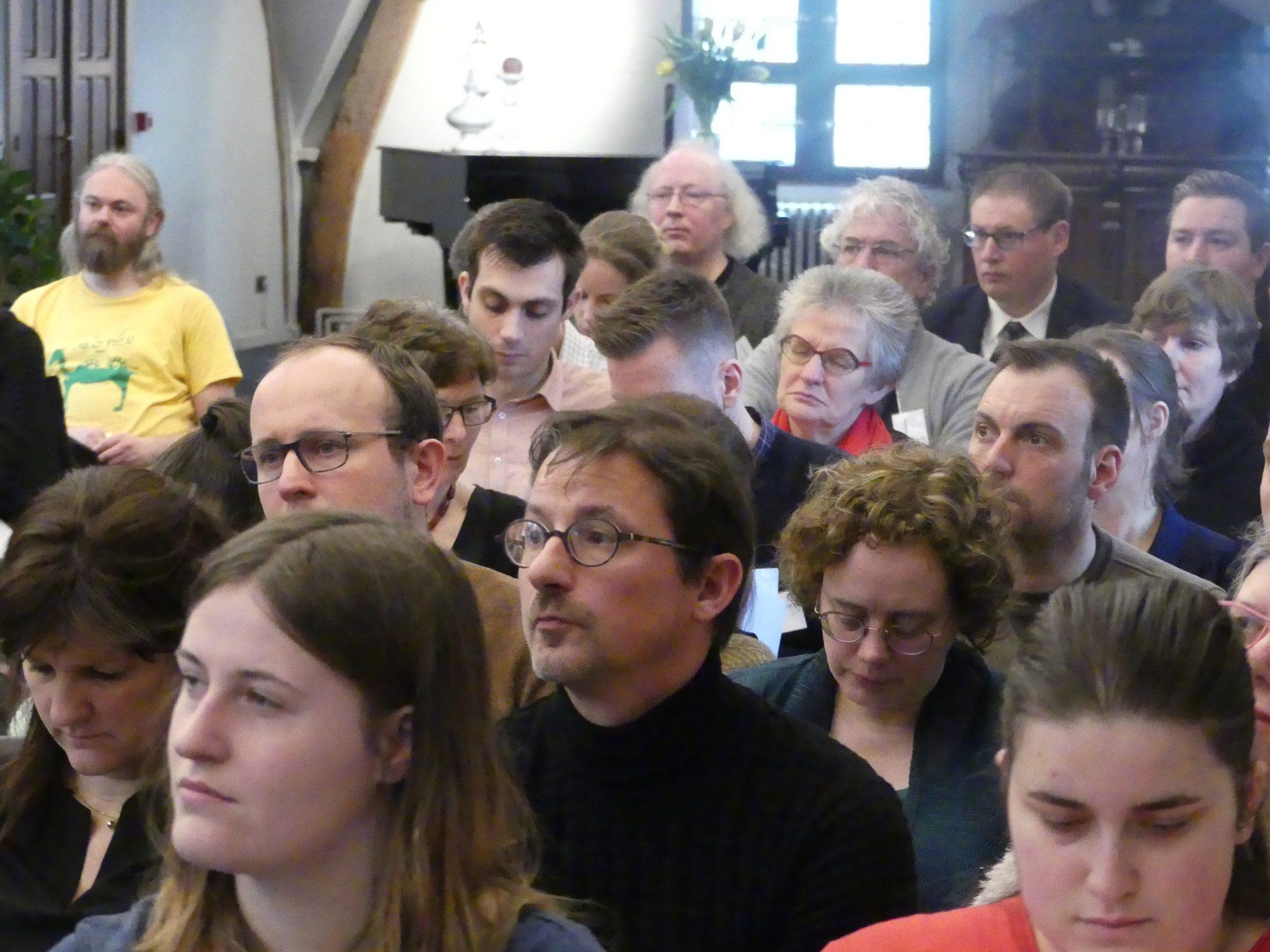 Deelnemers aan de studiedag 'De leraar als gids'