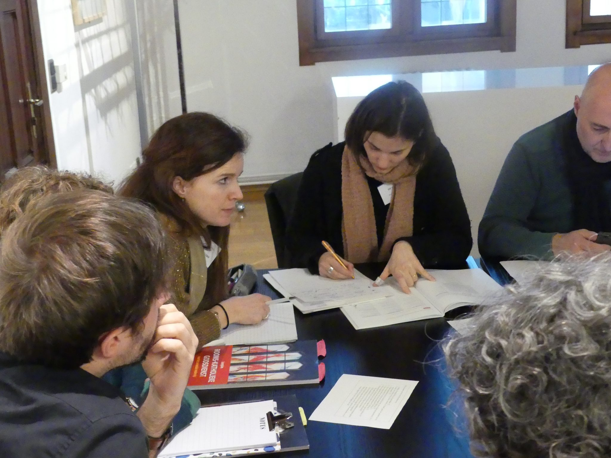Werkgroepen tijdens de studiedag 'De leraar als gids'