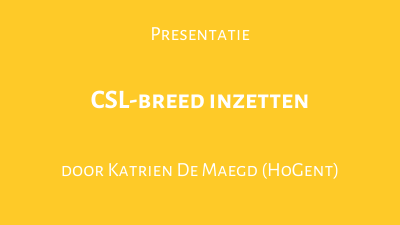 CSL-breed inzetten